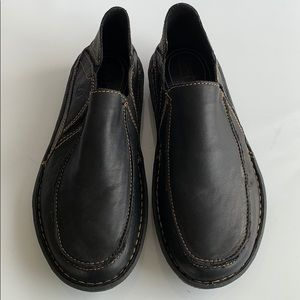 Born Brown Leather Loafers Slip Ons Size 8.5